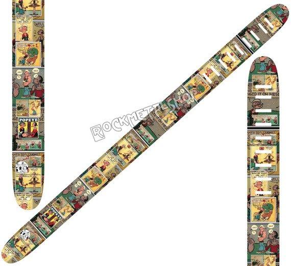 pas do gitary POPEYE - COMIC skórzany, 63mm