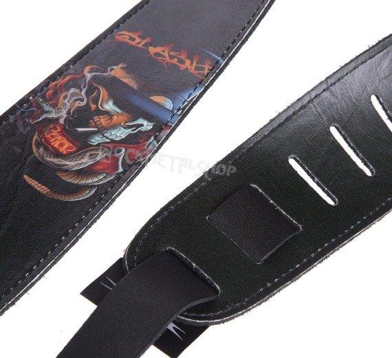 pas do gitary SLASH - CZASZKA skórzany, 63mm
