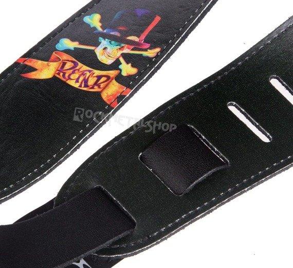 pas do gitary SLASH - SKULL skórzany, 63mm