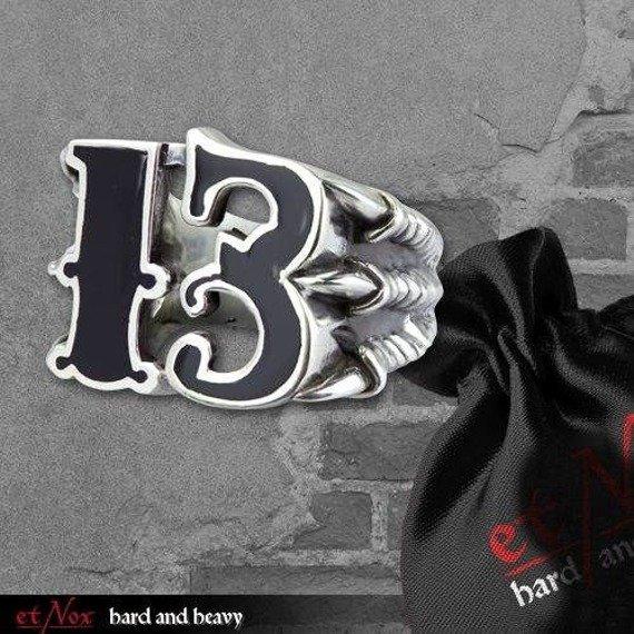 pierścień BIG BLACK 13