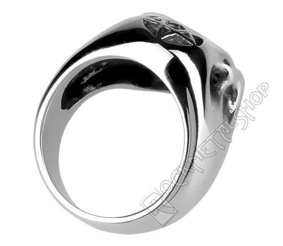pierścień BIG PENTAGRAM SKULL