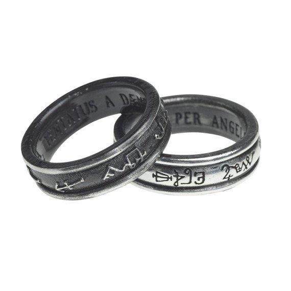 pierścień DEMON BLACK & ANGEL WHITE
