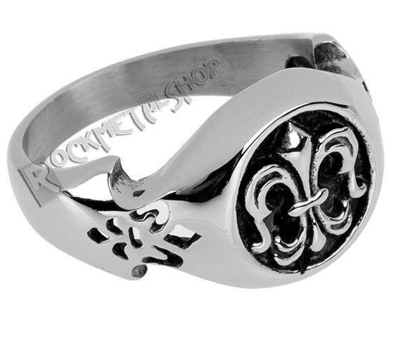 pierścień STEEL LILY