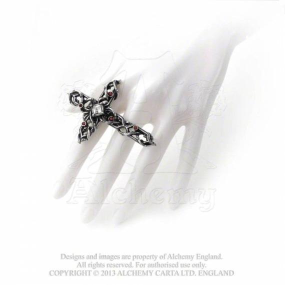 pierścień THORNY CROSS