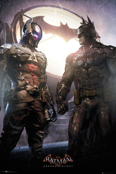 plakat BATMAN: ARKHAM KNIGHT - ARKHAM KNIGHT AND BATMAN