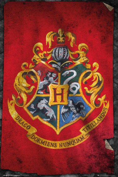 plakat HARRY POTTER -  HOGWARTS FLAG