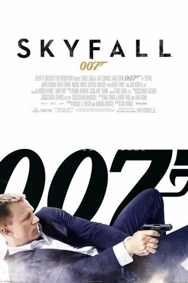 plakat JAMES BOND - SKYFALL ONE SHEET (WHITE)