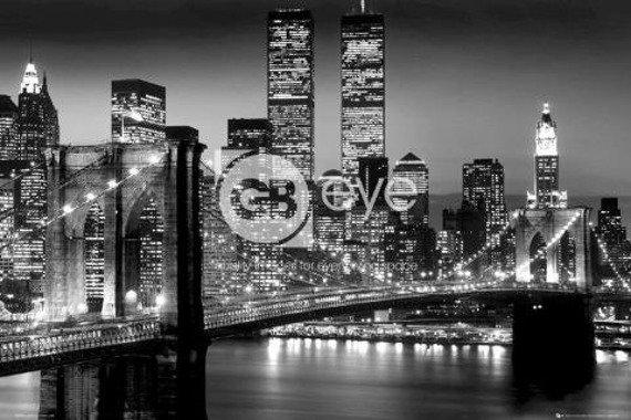 plakat NEW YORK - MANHATTAN BLACK