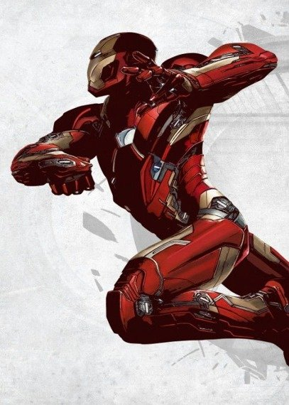 plakat z metalu MARVEL - CIVIL WAR - IRON MAN