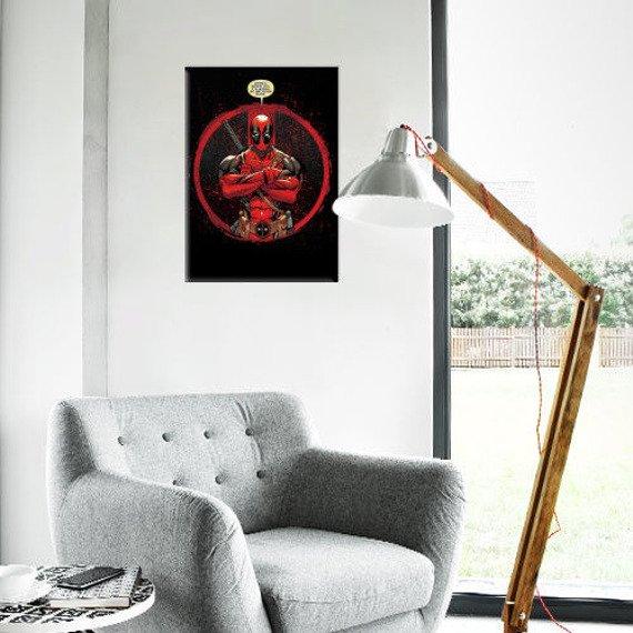 plakat z metalu MARVEL - DEADPOOL - EVENING PLANS