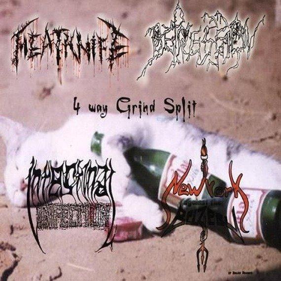 płyta CD: MEATKNIFE / DEPRESSION / INTESTINAL INFECTION / NEW YORK AGAINST THE BELZEBU - 4 WAY GRIND SPLIT