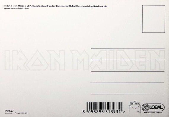 pocztówka IRON MAIDEN - WICKER MAN