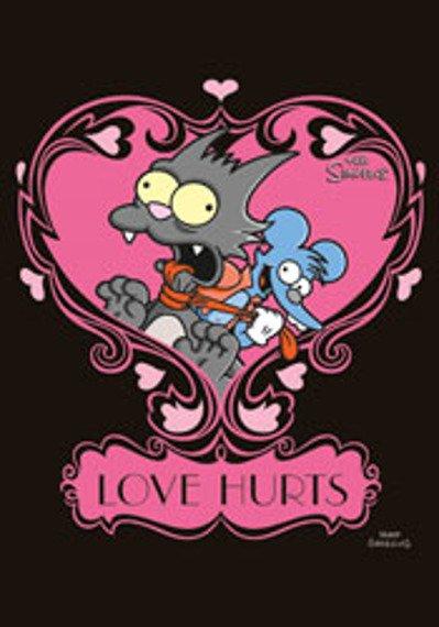 pocztówka SIMPSONS -  LOVE HURTS
