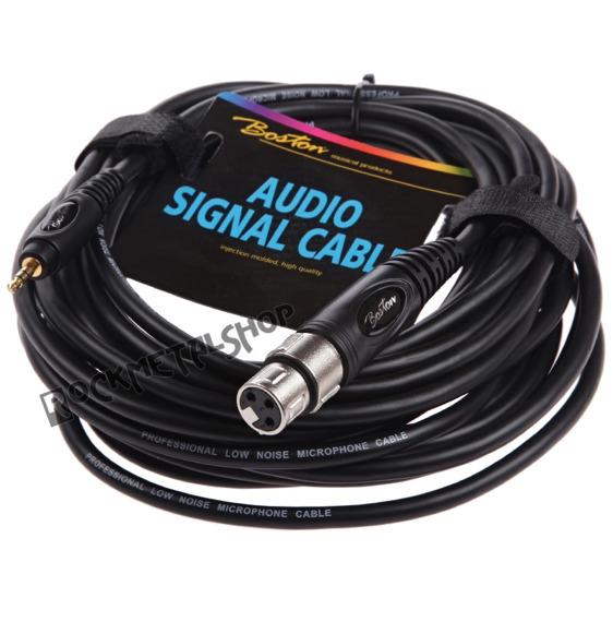 przewód audio BOSTON: XLR żeński -  mały JACK STEREO (3,5mm) / 6m