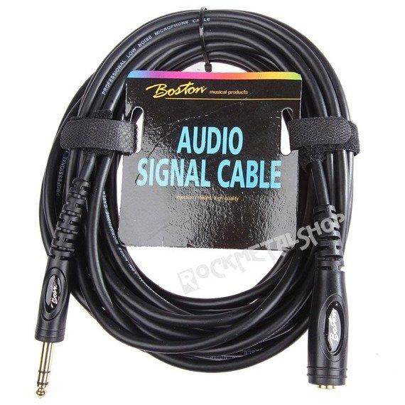 przewód audio BOSTON: gniazdo JACK STEREO (6.3mm) -  DUŻY JACK STEREO (6.3mm) / 9m