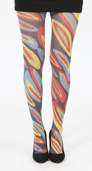 rajstopy Hoops Printed Tights - Multicoloured