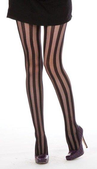 rajstopy Solid Sheer Stripe