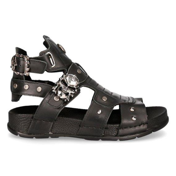 sandały NEW ROCK - ITALI NEGRO BIO NEGRO [BIO17-S1]