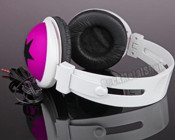 słuchawki HEADPHONE STAR BLACK/PINK (92005-005-000) [SMB-002]