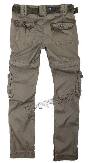 spodnie bojówki damskie LADIES TREKKING PREMIUM OLIV,odpinane