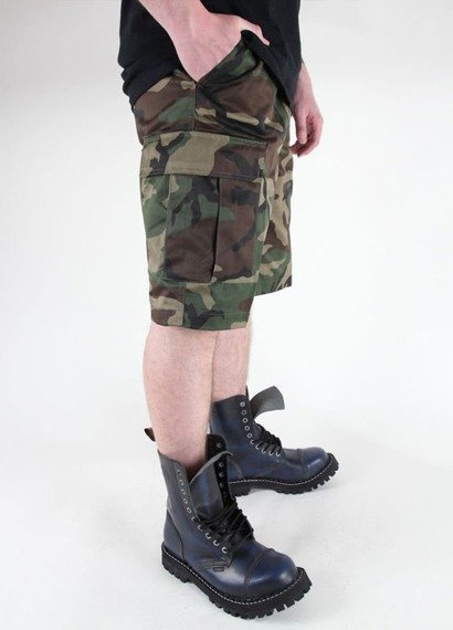spodnie bojówki krótkie BERMUDA T/C WOODLAND