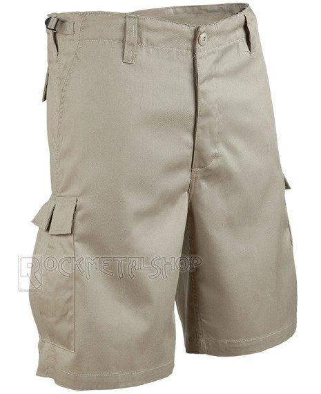 spodnie bojówki krótkie COMBAT SHORTS - BEIGE
