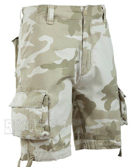 spodnie bojówki krótkie URBAN LEGEND SHORTS - SANDSTORM