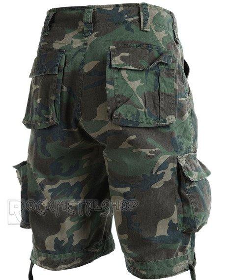 spodnie bojówki krótkie URBAN LEGEND SHORTS - WOODLAND