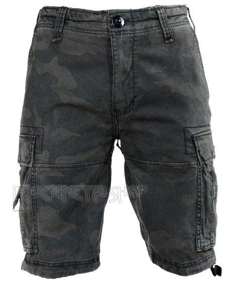 spodnie bojówki krótkie VINTAGE SHORTS - DARKCAMO