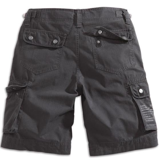 spodnie bojówki krótkie XYLONTUM SHORTS BLACK