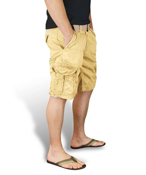 spodnie bojówki krótkie XYLONTUM VINTAGE SHORTS BEIGE