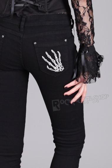 spodnie damskie BANNED - SKELETON HANDS