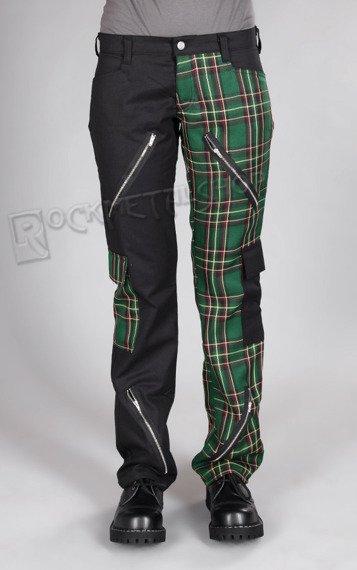 spodnie damskie FREAK PANTS TARTAN BLACK/GREEN