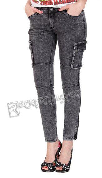 spodnie damskie IRON FIST - LACEY CARGOS black
