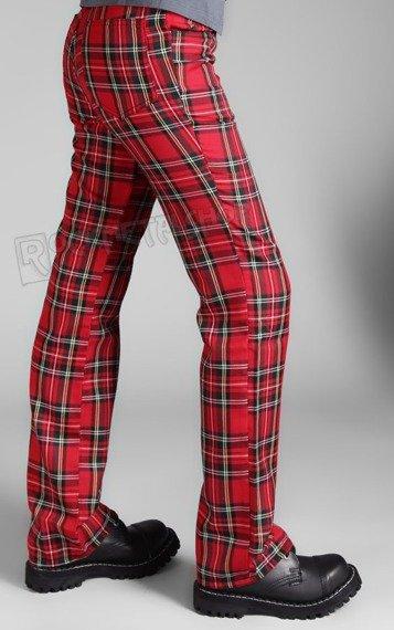 spodnie damskie TARTAN PANTS RED/GREEN