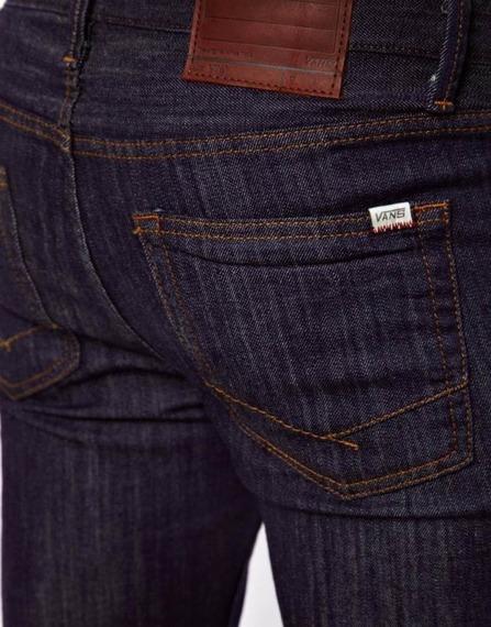 spodnie męskie VANS - V76 SKINNY MIDNIGHT INDIGO