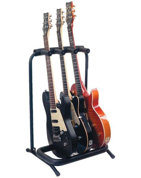 stojak na 3 gitary GLEAM GM-007 - do gitar elektrycznych i basowych