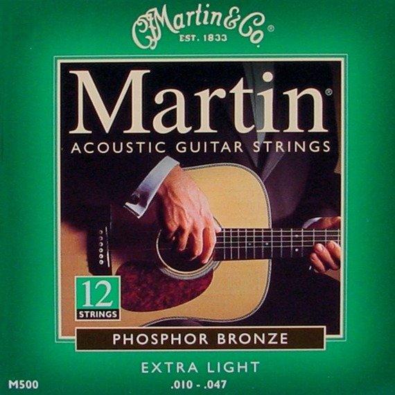 struny do gitary akustycznej 12str. MARTIN M550 - PHOSPHOR BRONZE 92/8 Extra Light /010-047/