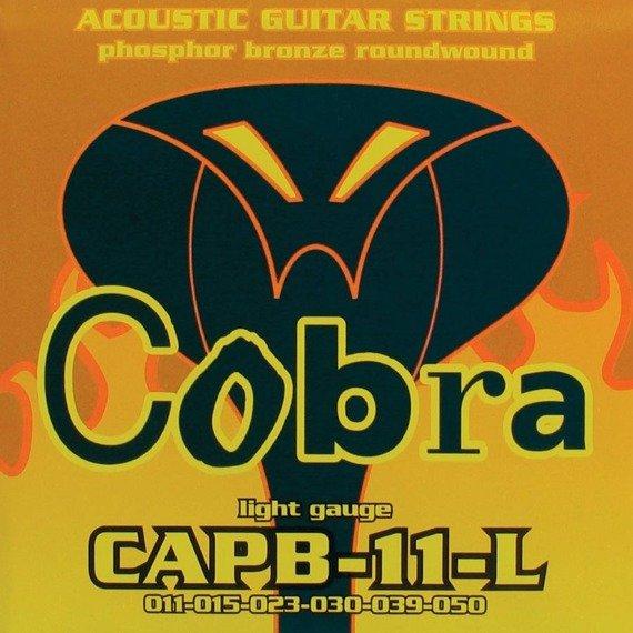 struny do gitary akustycznej COBRA CAPB-11-L PHOSPHOR BROZNE /011-050/