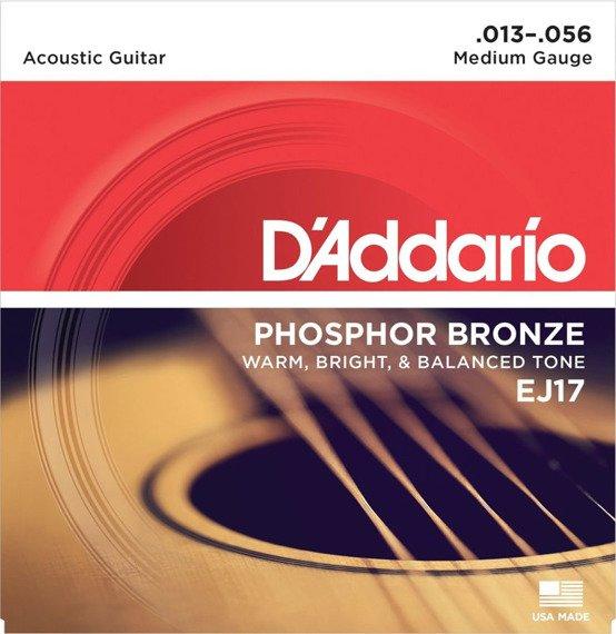 struny do gitary akustycznej D'ADDARIO - Medium EJ17 /013-056/