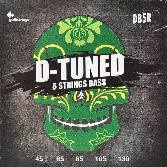 struny do gitary basowej 5str. GALLI STRINGS - D-TUNED DB5R obniżony strój /045-130/