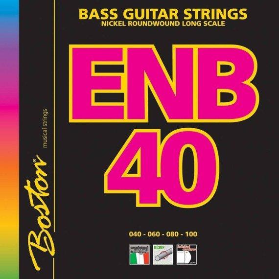 struny do gitary basowej BOSTON ENB40 / NICKEL ROUNDWOUND /040-100/