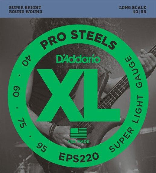 struny do gitary basowej D'ADDARIO EPS220 /040-095/