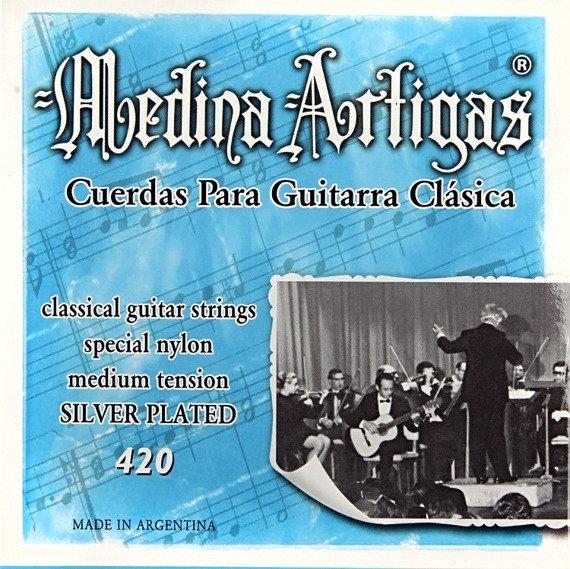 struny do gitary klasycznej MEDINA ARTIGAS Clear 420 Medium