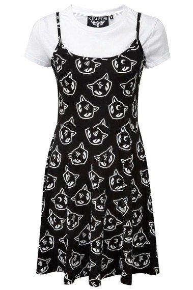 sukienka KILL STAR - KITTY KULT PURR GRUNGE SKATER, plus koszulka