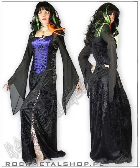 suknia MAXIME black/purple [GT348] Laughing Vampire