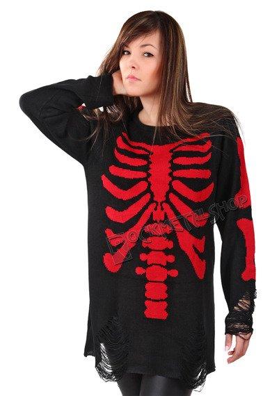 sweter KILL STAR - SKELETOR RED