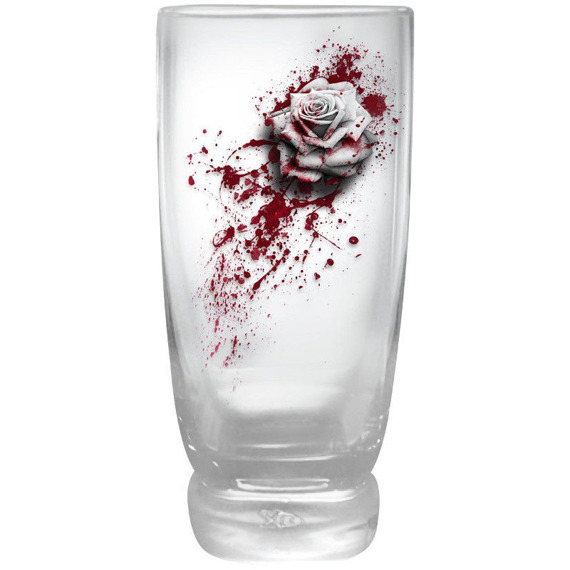 szklanki BLOOD ROSE