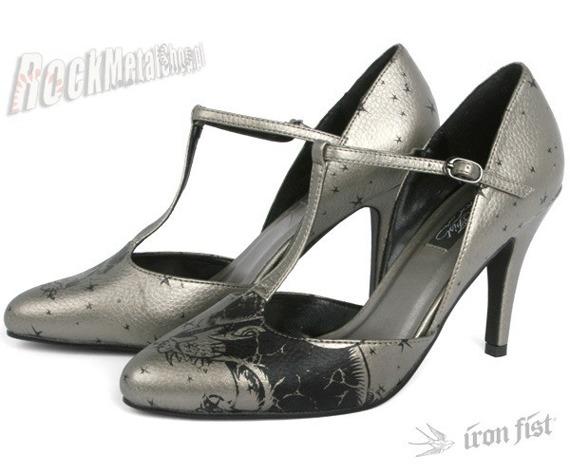 szpilki IRON FIST (Yosemite T-Bar Heel)(Metallic Pewter)  '09