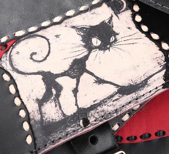 torba skórzana FUNNY CAT